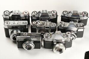 Zeiss Ikon Lot 8 Kameras, Contaflex, Contessa, Vitessa