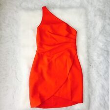 FRAME and PARTNERS One Shoulder Mini Dress Orange Sz 8