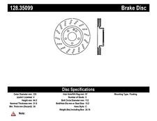 Disc Brake Rotor-OE Type Drilled Disc-Preferred Front Centric 128.35099