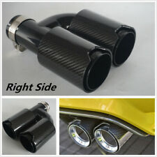 Car Carbon Fiber Exhaust Dual TWIN End Tips for BMW 63mm In 89MM Out Dual Pipes