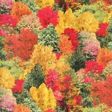 Autumn Meadow Fall Trees Landscape Medley Quilt Sew Fabric ELIZABETH'S STUDIO
