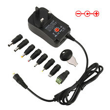 UK Universal Mains AC/DC Power Adaptor Supply Charger 3v 4.5v 5v 6v 7.5v 9v 12v