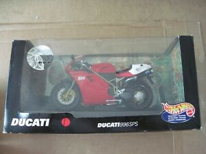 Hot Wheels Ducati 996SPS Motorcycle Diecast / Plastic 1:10 NEW