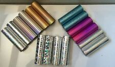 Hot Foil Roll 2x 5m long 90mm wide various holographic 3D colours crafts cards