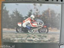 S0403-PHOTO MICK GRANT YAMAHA 250 CC HILVARENBEEK 1974 NO 64 SHELL SPORT MOTO GP
