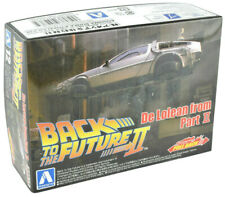 Aoshima Back To The Future II Delorean 1/43 Pull Back Model Car Kit 05476