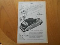 Vintage Vanden Plas Advert -- Original -- from 1956