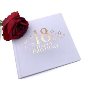 18th Birthday Photo Album For 50 x 6 by 4 Photos Rose Gold Print