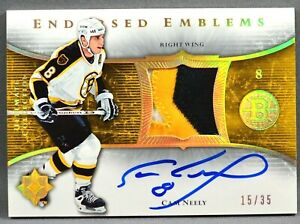 05-06 UD Ultimate Cam Neely NHL JERSEY PATCH AUTO #15/35 2005 2006 BOSTON BRUINS