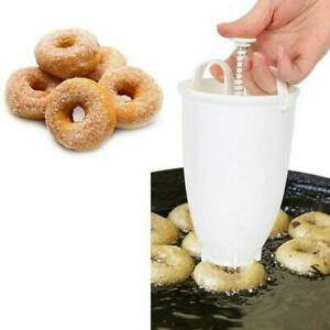 Mini Doughnut Mould Donut Waffle Maker Machine Dispenser Kitchen UK Utensil O6Y1