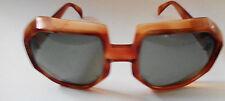 Vintage Cool Ray Polaroid Sunglasses Orange Brown Plastic Frames