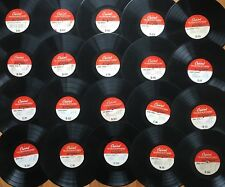 "Lot of 20x CAPITOL 16"" TRANSCRIPTION DISCS~All Pictured~Many Rare & Unknown! #7"