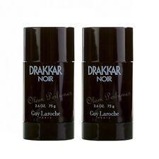 Pack of 2 Guy Laroche Drakkar Noir Deodorant Stick 2.6oz 75g each * Low Ship