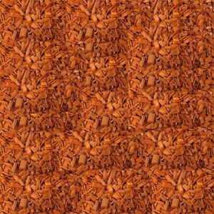 Bark Mulch & Wood Chips Orange Color 1/2litre(0.1gallon)Decorative!