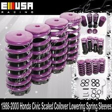 Honda Civic 88-91/92-95/96-00  Coilover Lowering Coil Springs Set PURPLE/BLACK
