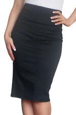 Womens Bodycon Skirt Pencil Stretch Tube Size 8 10 12 14 16 18