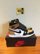 Nike Air Jordan 1 Retro High Og NRG Gold Toe UK 11 US 12 Deadstock