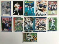Troy Aikman Football Card Lot, Dallas Cowboys, HOF, Rookie Card Plus More