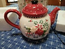 Mary Engelbreit Christmas Spice Teapot Nib
