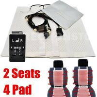 for VW New Version 2 Seats Car Carbon Fiber Heated Seat Heater Kits 5 Switch 12V