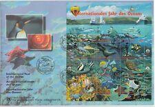 UNO WIEN, 1998 FDC Jahr des Ozeans 252-63 Kleinbogen, (19993)