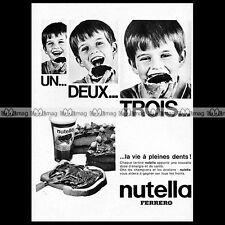 NUTELLA Ferrero 'A pleines dents' 1970 : Pub Publicité Original Advert Ad #A1344