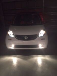 White LED Halo Fog Lamps Driving Light Kit for 2016-2020 Smart Fortwo