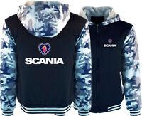 Men's SCANIA Hoodie Thicken Fleece Coat Trucks Jacket Warm Winter Sweatshirt