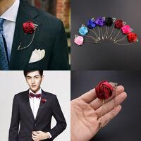 Homme costume revers broche fleur rose pour mariage cadeau bâton boutonniere 2pc