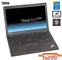 "Lenovo ThinkPad X250 i5-5300u 8GB 256GB SSD 12,5"" IPS FullHD 1920x1080 WEBCAM UK"