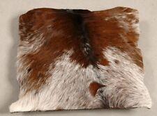 NEW COWHIDE LEATHER CUSHION COVER RUG COW HIDE HAIR ON CUSHION E-1183