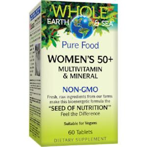 Whole Earth & Sea - Women's 50+ Multivitamin Mineral, 60 Tablets - Non-GMO