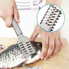 1 PCS Stainless Steel Kitchen Clean Fish Scales Knife Scraping Seafood Tools New