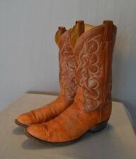 Tony Lama Lizard Boots Brown Men Leather Narrow 13 - B Made in USA