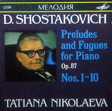 CD Shostakovich-Preludes & Fugues pianoforte op.87 NOS. 1-10, Nikolaeva, Melodiya