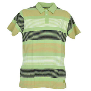 Red Jacket Collar Polo Striped Lines Button Dress Shirt Mens Adult Green