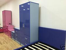 NEW Marina Boys or Girls Pink & Blue Ultra Gloss Bedroom Furniture Units & Sets