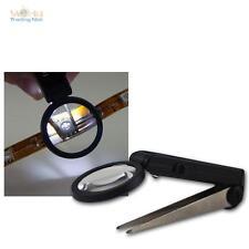 Lupenpinzette, 25mm Lupe mit 10-fach Vergrößerung u LED-Beleuchtung LED-Pinzette