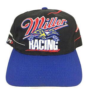 Rusty Wallace Miller Racing Cap All Over Logo Swirl Nascar Snapback Baseball Hat
