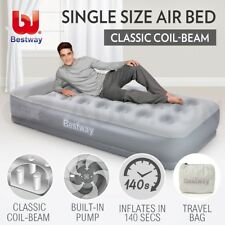 Bestway Single Inflatable Mattress Air Bed Sleeping Mat Indoor Outdoor Camping