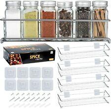 Gewürzregale aus Metall 4er Set - Für Gewürze, als Küchenablage, Schrankeinsatz