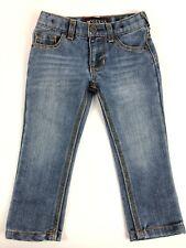 Guess Toddler Boys Jeans Logo Pocket Adjustable Waist Medium Wash Blue Sz 2T