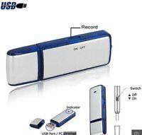 NEW ULTRA MINI 8GB USB FLASH DRIVE SPY AUDIO DIGITAL VOICE RECORDER STORE 160hrs
