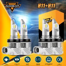 New listing Auxbeam H11 H9 Led Headlight Bulbs Kit 6000K White Bright High + Low Beam Combo