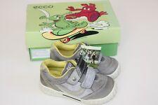 ECCO Schuhe Halbschuhe Sneaker Leder Silbergrau Gr 23 (15cm) NEU!! OVP!!