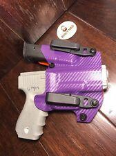 SIG SAUER P938 Hunter Orange Carbon Fiber Purple SideCar Holster IWB