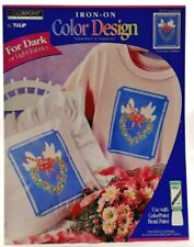 1995 VTG ColorPoint Painstitching Transfer Pattern Love Doves Fabric Paint 7471F