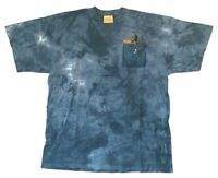 The Mountain Lone Angler Fisherman Boat Blue Tie Dye T Shirt New Official Nature