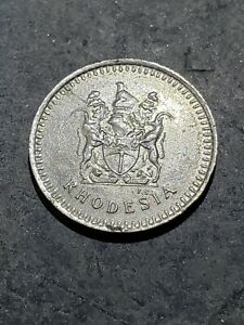 1976 Rhodesia 5 Cents Coin Africa Zimbabwe
