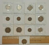13 LOT MIXED INDIA-BRITISH COINS WORLD FOREIGN ESTATE1907 1912 1926 & MORE